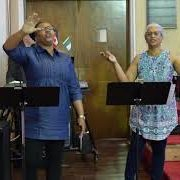 Two members of the praise and worship team
